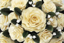 Sugar Craft - Cake Wedding Flowers (6837)