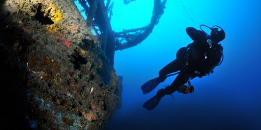 Diver exploring the MV Imperial Eagle (9791)